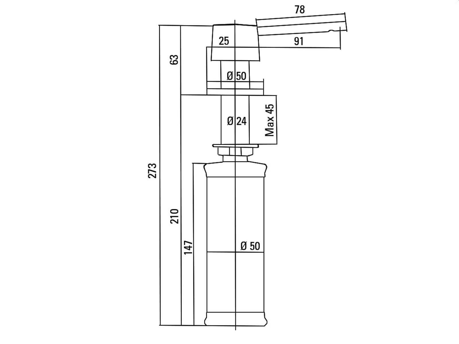 villeroy boch 9236 10 lc edelstahl seifenspender. Black Bedroom Furniture Sets. Home Design Ideas