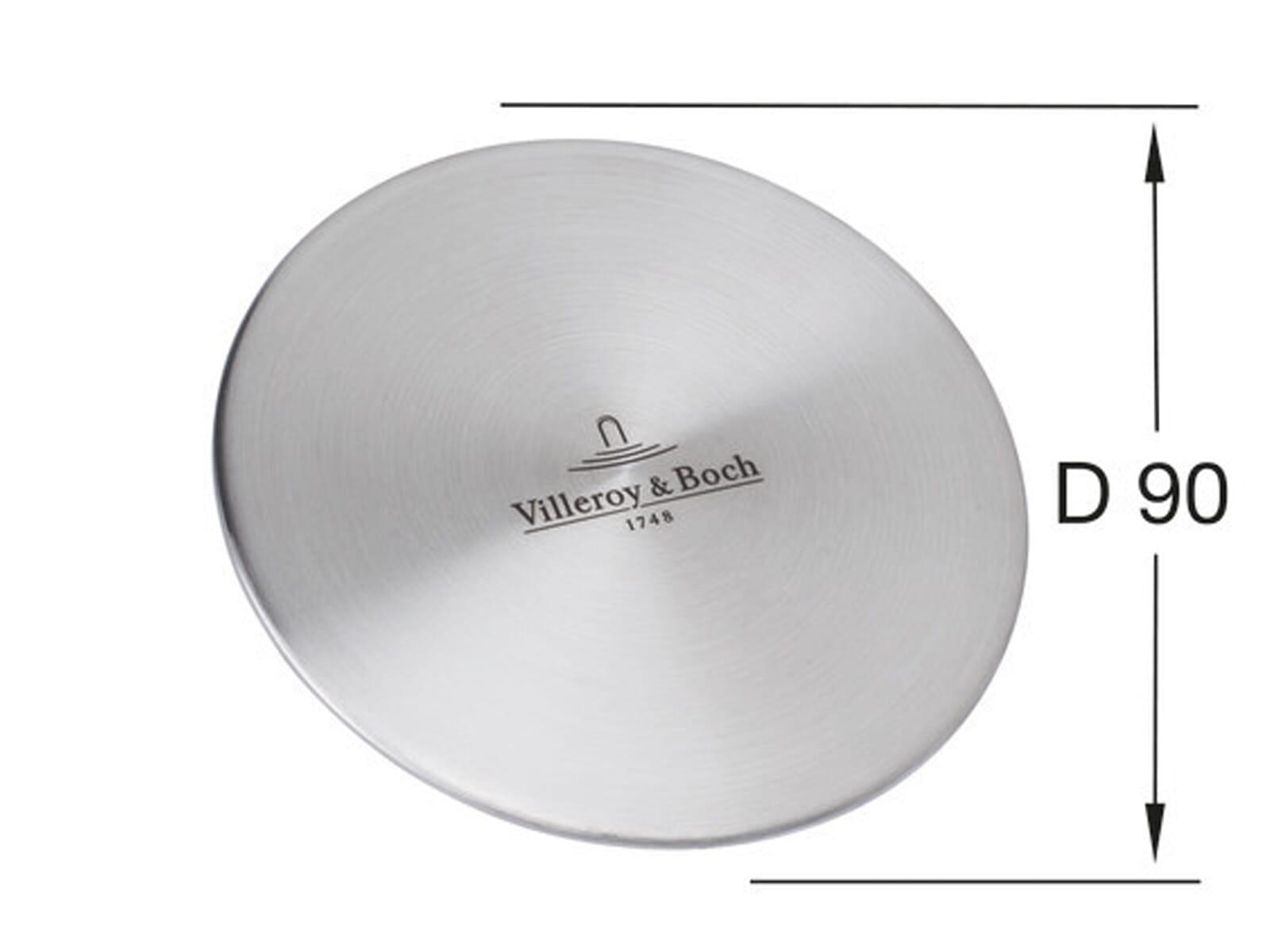 Villeroy & Boch 9624 15 LC Cap Ventilabdeckung Edelstahl