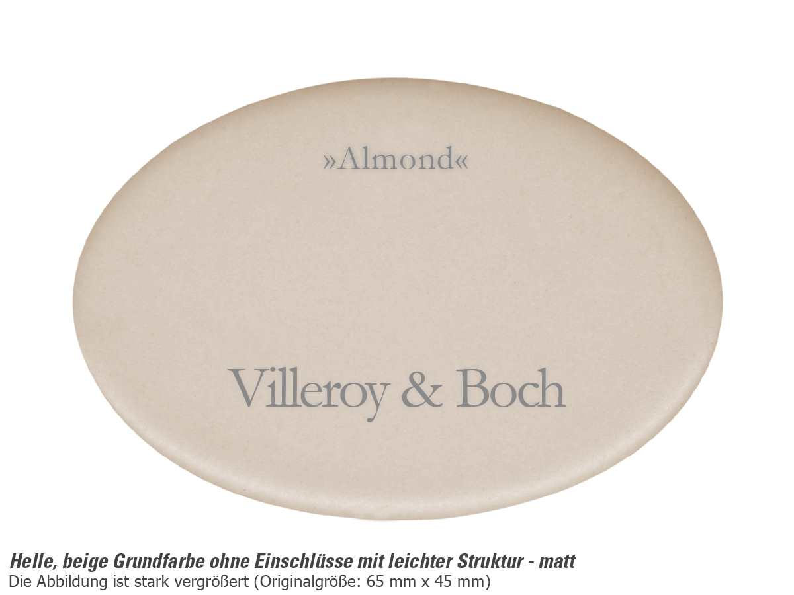 Villeroy & Boch Subway 50 SU Almond - 3325 01 AM Keramikspüle Handbetätigung
