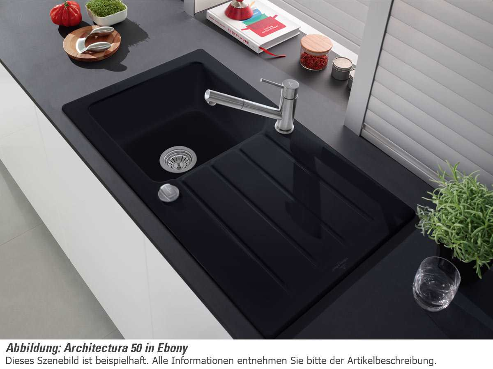Villeroy & Boch Architectura 50 - 3350 02 SM Steam Keramikspüle Exzenterbetätigung