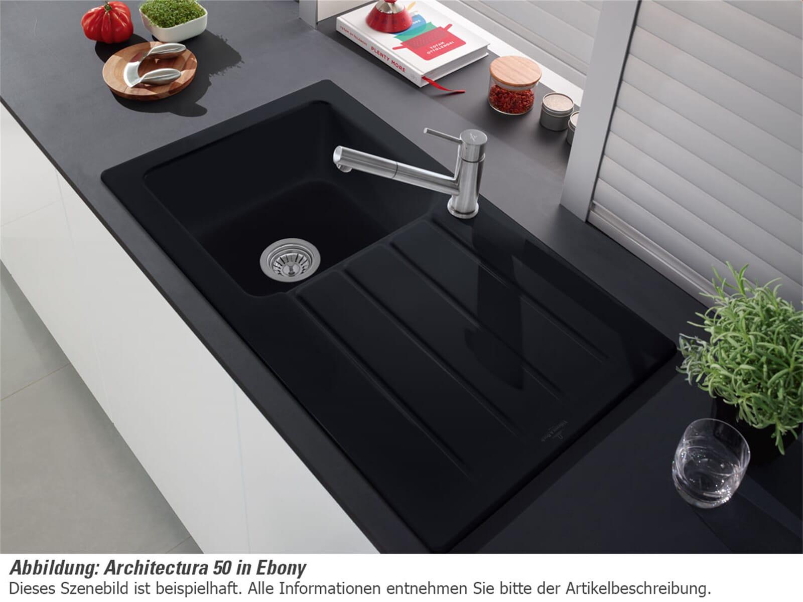 Villeroy & Boch Architectura 50 - 3350 01 SL Stone Keramikspüle Handbetätigung