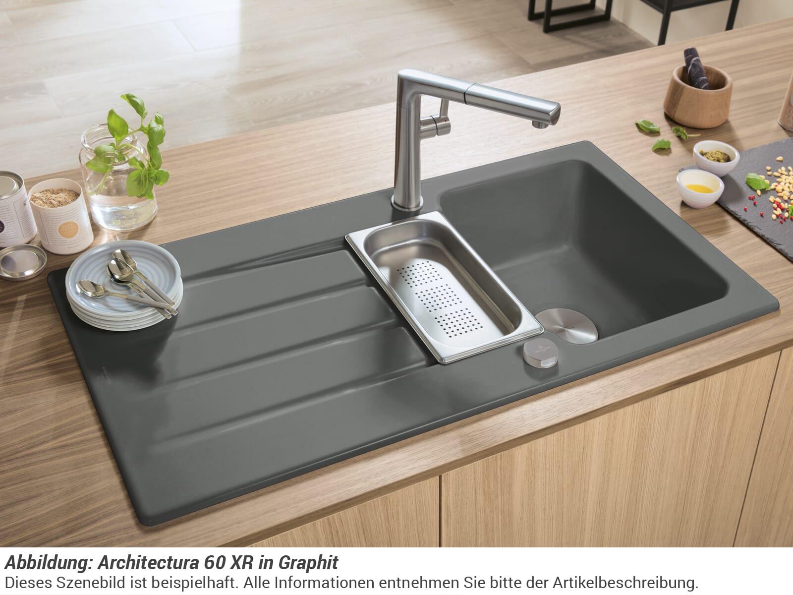 Villeroy & Boch Architectura 60 XR - 3365 02 AM Almond Keramikspüle Exzenterbetätigung