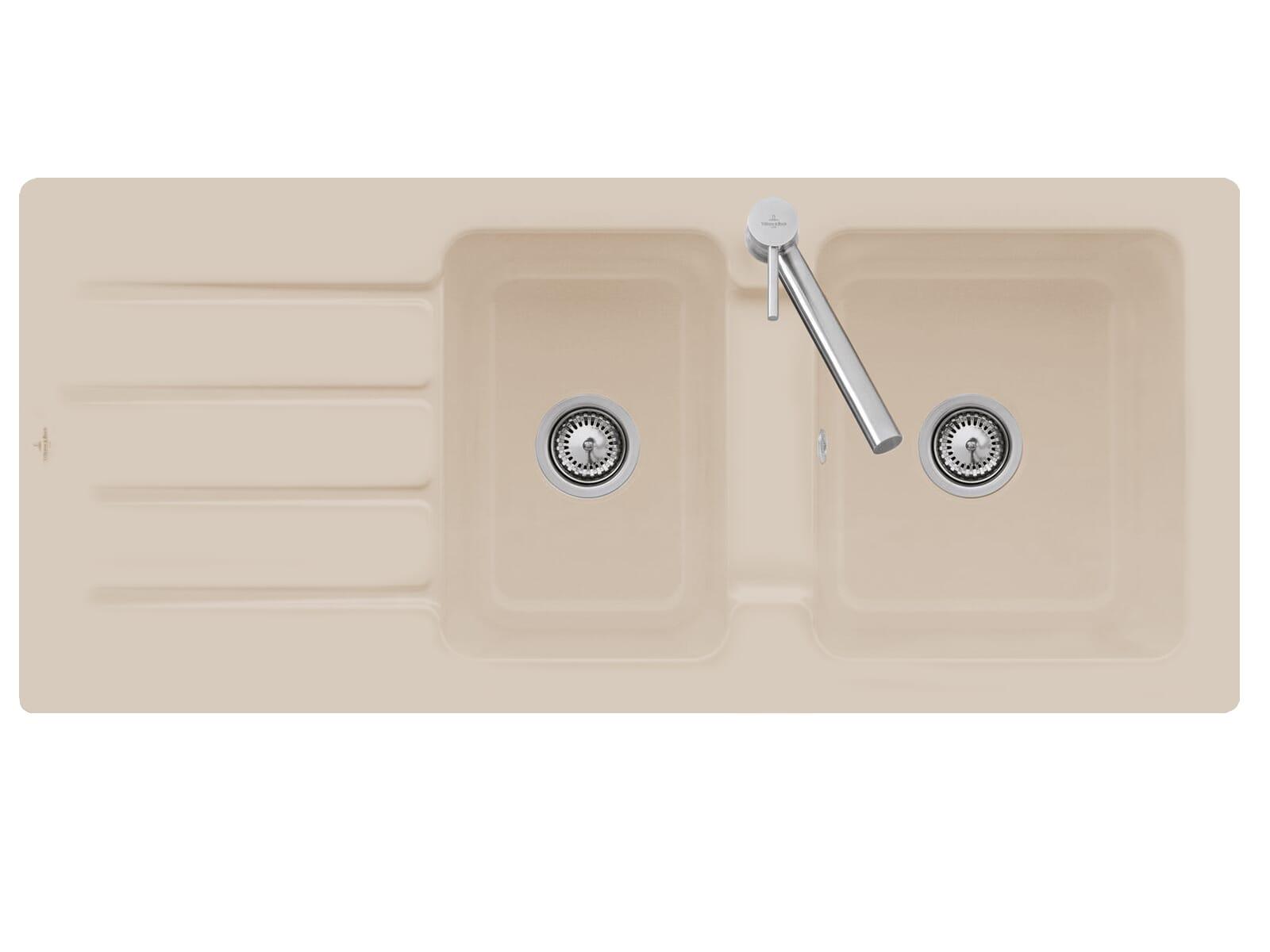 Villeroy & Boch Architectura 80 3380 01 AM Almond Keramikspüle Handbetätigung