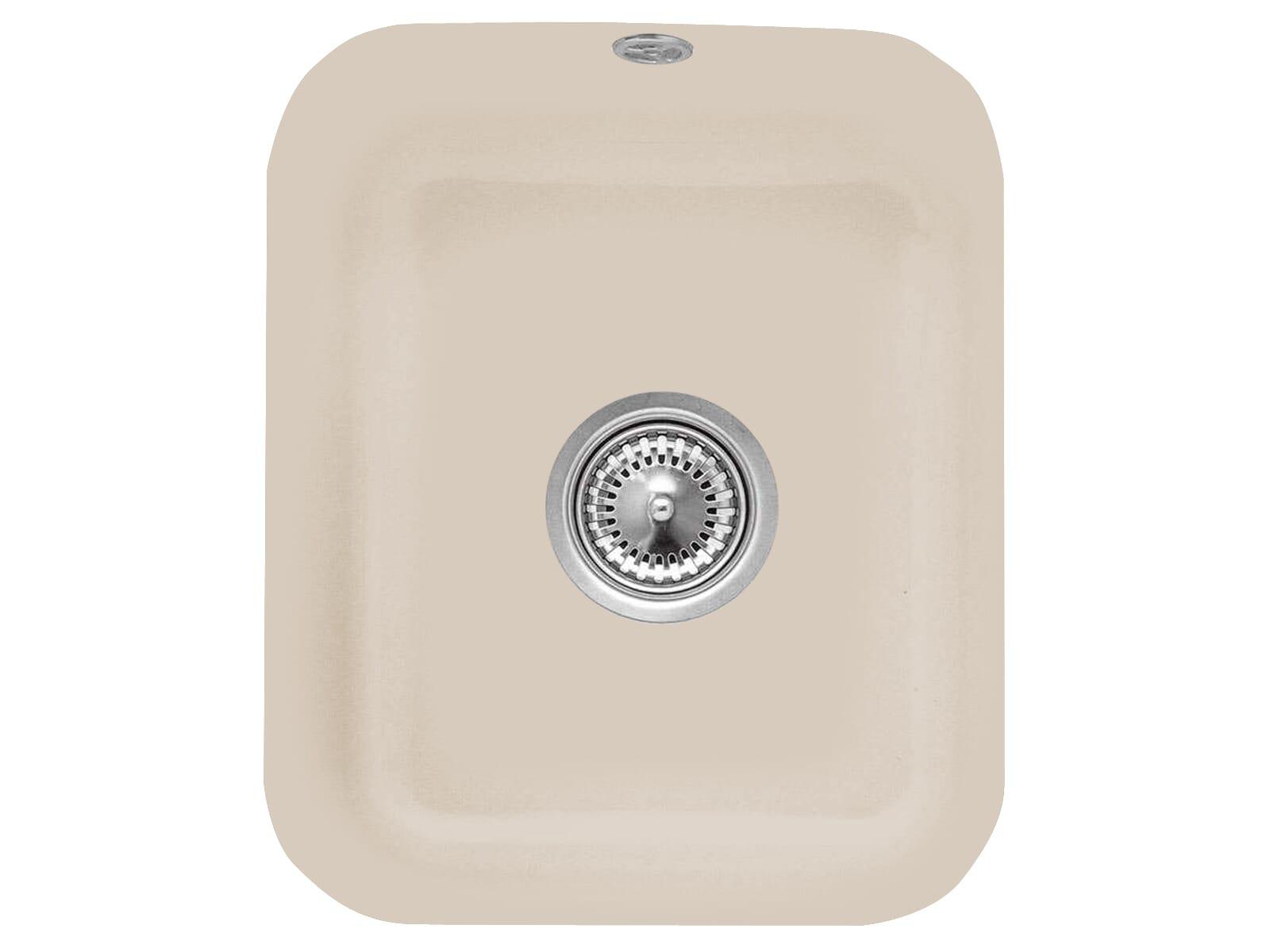 Villeroy & Boch Cisterna 45 Almond - 6704 01 AM Keramikspüle Handbetätigung