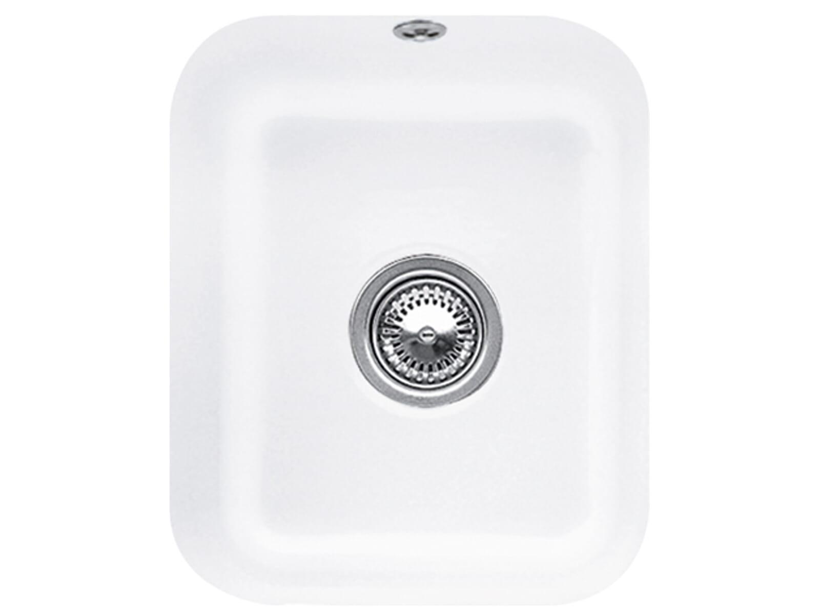Villeroy & Boch Cisterna 45 Stone White - 6704 01 RW Keramikspüle Handbetätigung