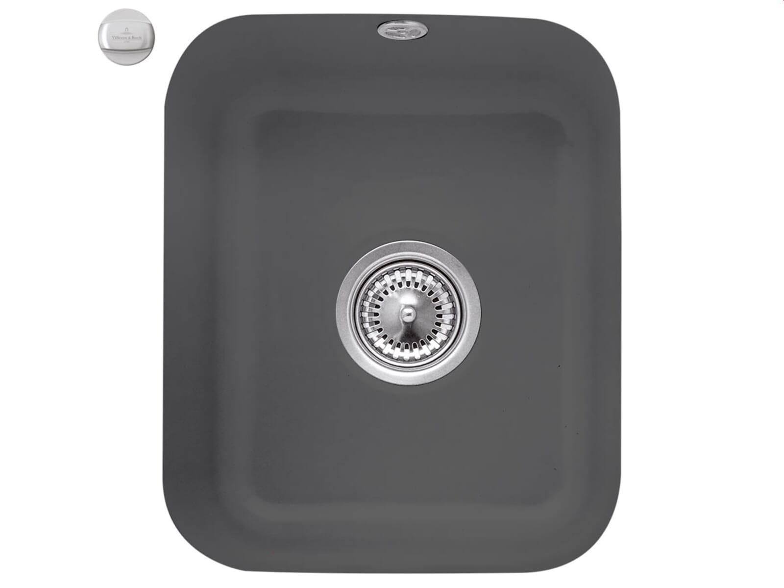 Villeroy & Boch Cisterna 45 Graphit - 6704 02 i4 Keramikspüle Exzenterbetätigung