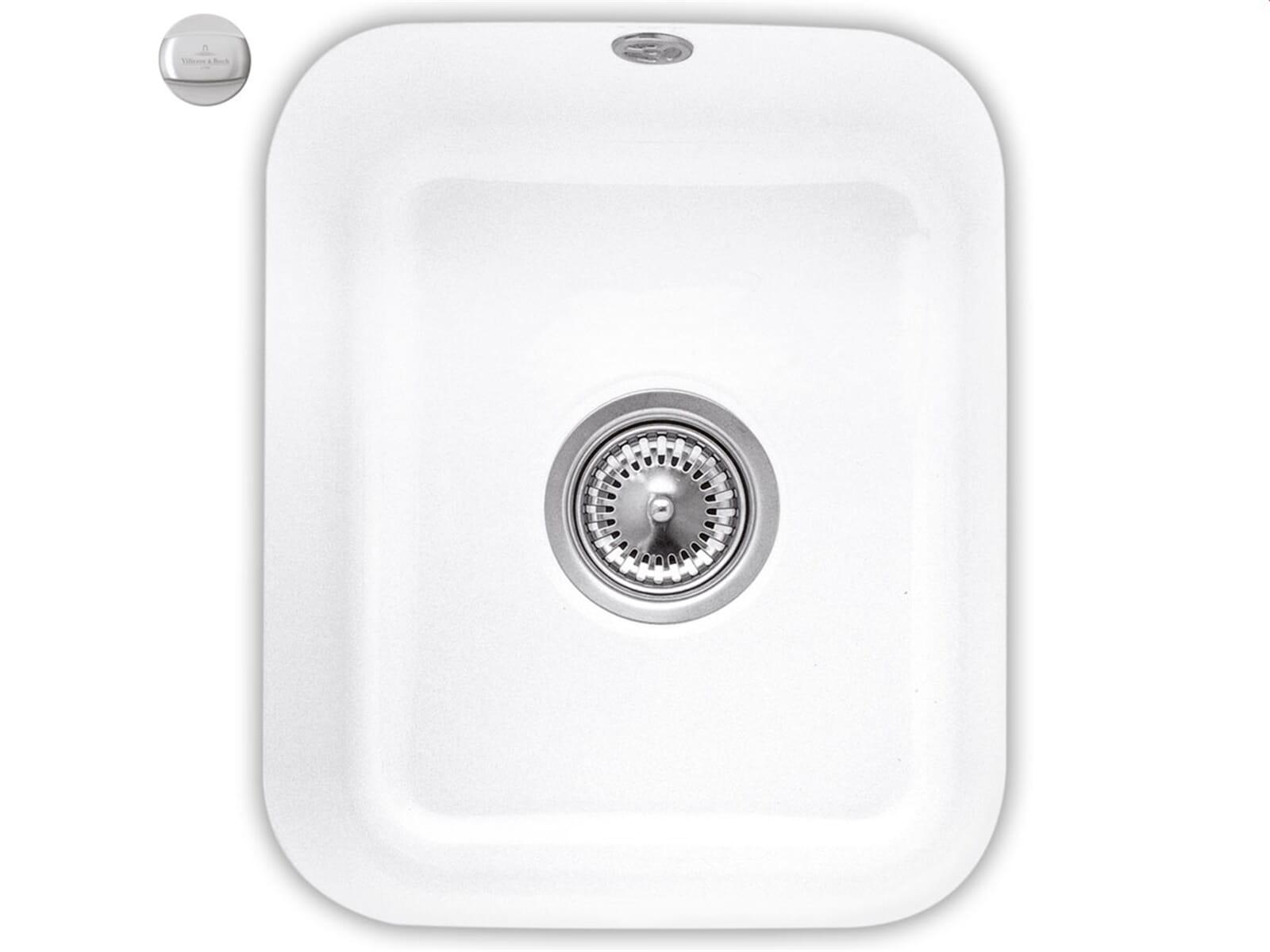 Villeroy & Boch Cisterna 45 Snow White - 6704 02 KG Keramikspüle Exzenterbetätigung