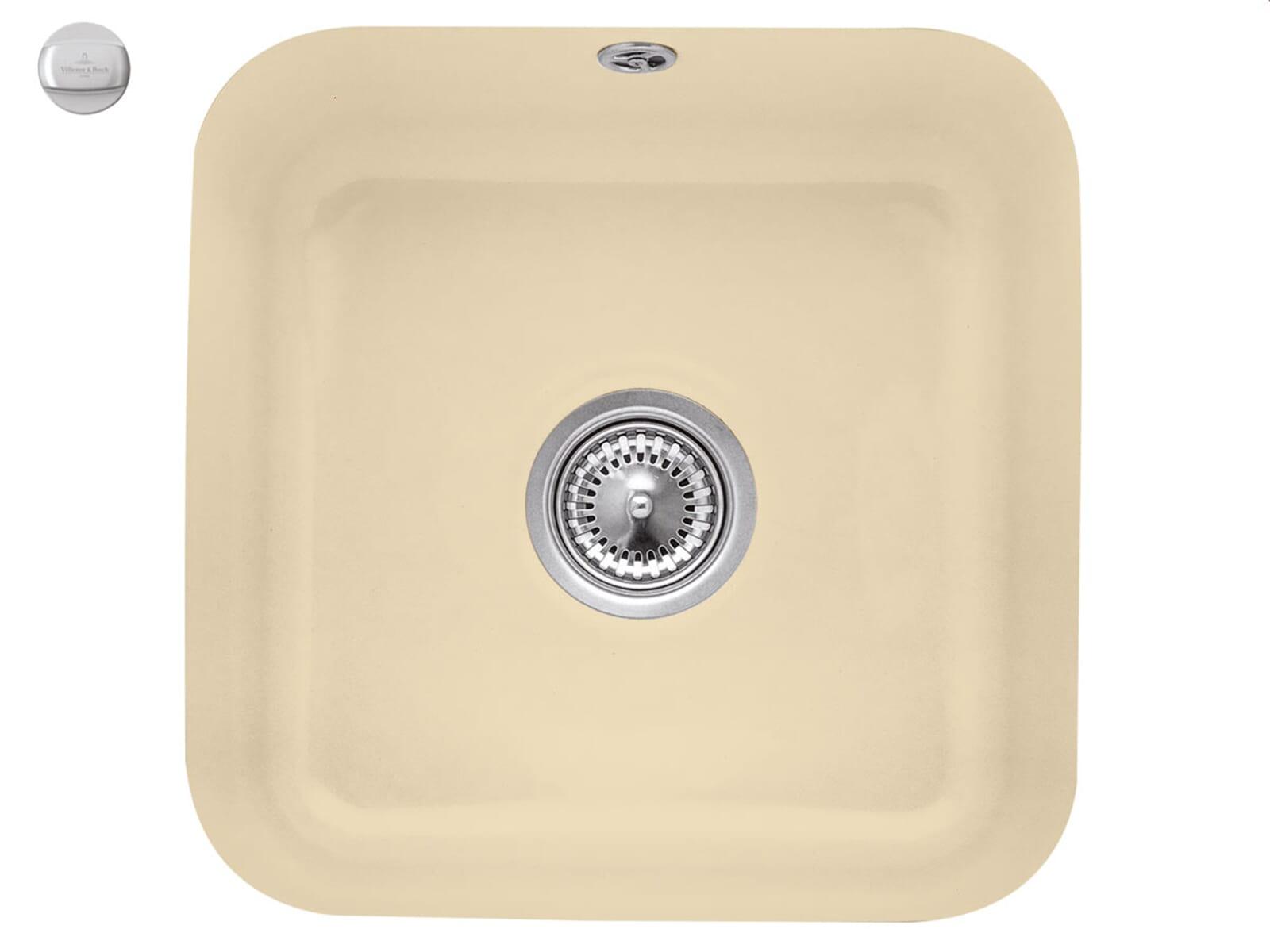 Villeroy & Boch Cisterna 50 Sand - 6703 02 i5 Keramikspüle Exzenterbetätigung
