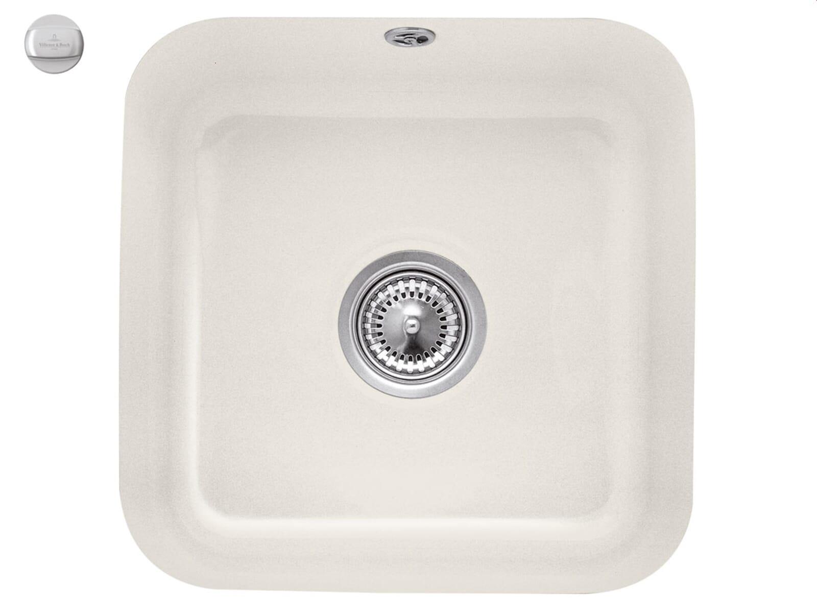 Villeroy & Boch Cisterna 50 Crema - 6703 02 KR Keramikspüle Exzenterbetätigung