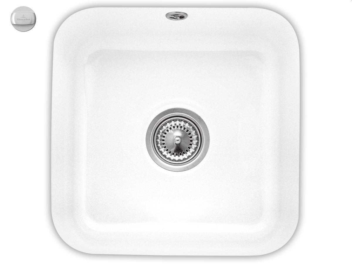 Villeroy & Boch Cisterna 50 Weiß (alpin) - 6703 02 R1 Keramikspüle Exzenterbetätigung