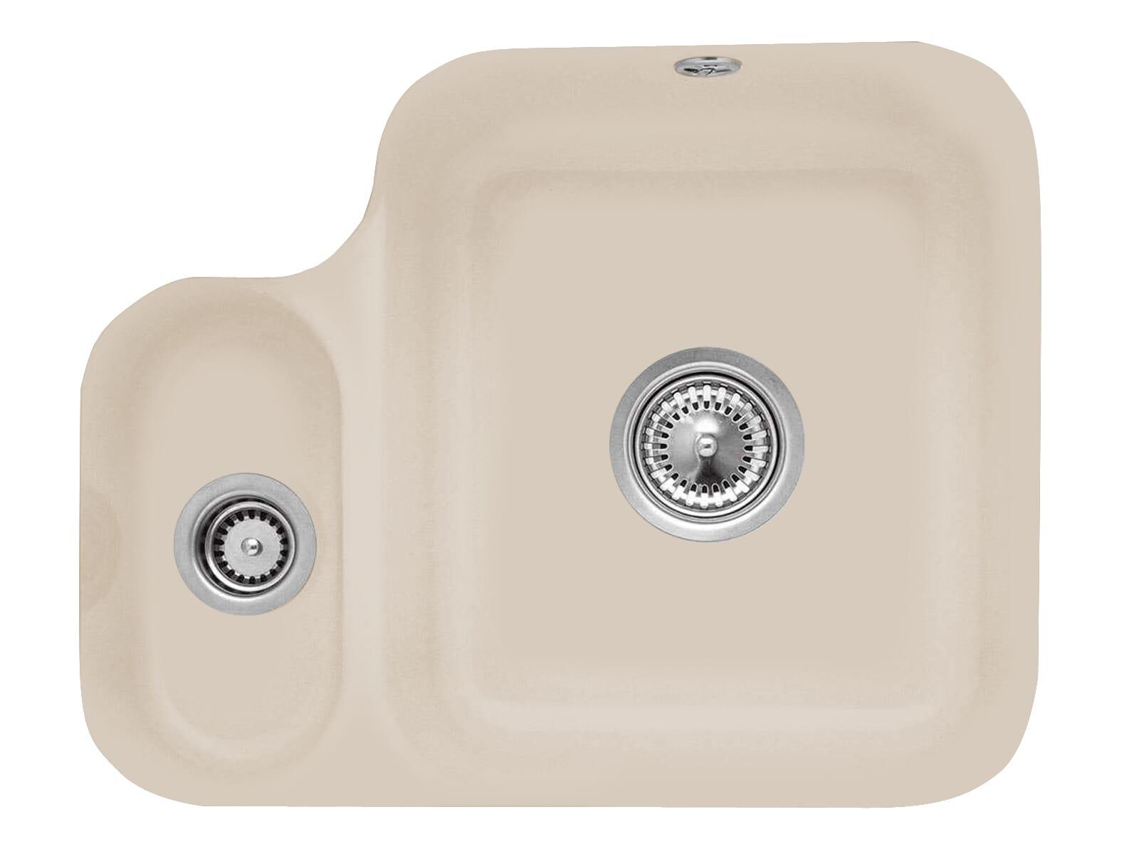 Villeroy & Boch Cisterna 60B Almond - 6702 01 AM Keramikspüle Handbetätigung