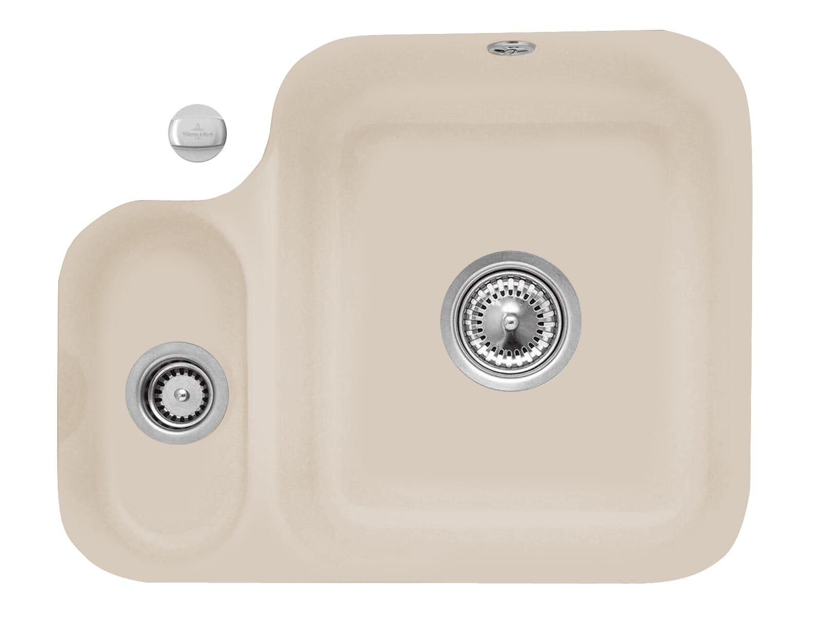 Villeroy & Boch Cisterna 60B Almond - 6702 02 AM Keramikspüle Exzenterbetätigung