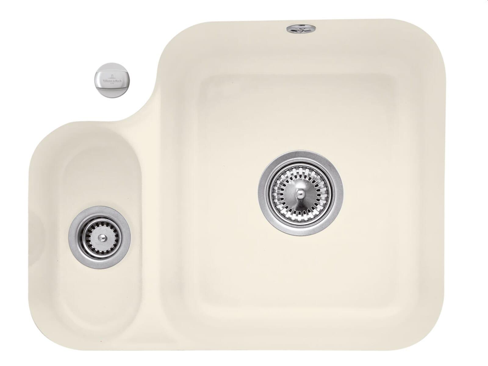 Villeroy & Boch Cisterna 60B Ivory - 6702 02 FU Keramikspüle Exzenterbetätigung