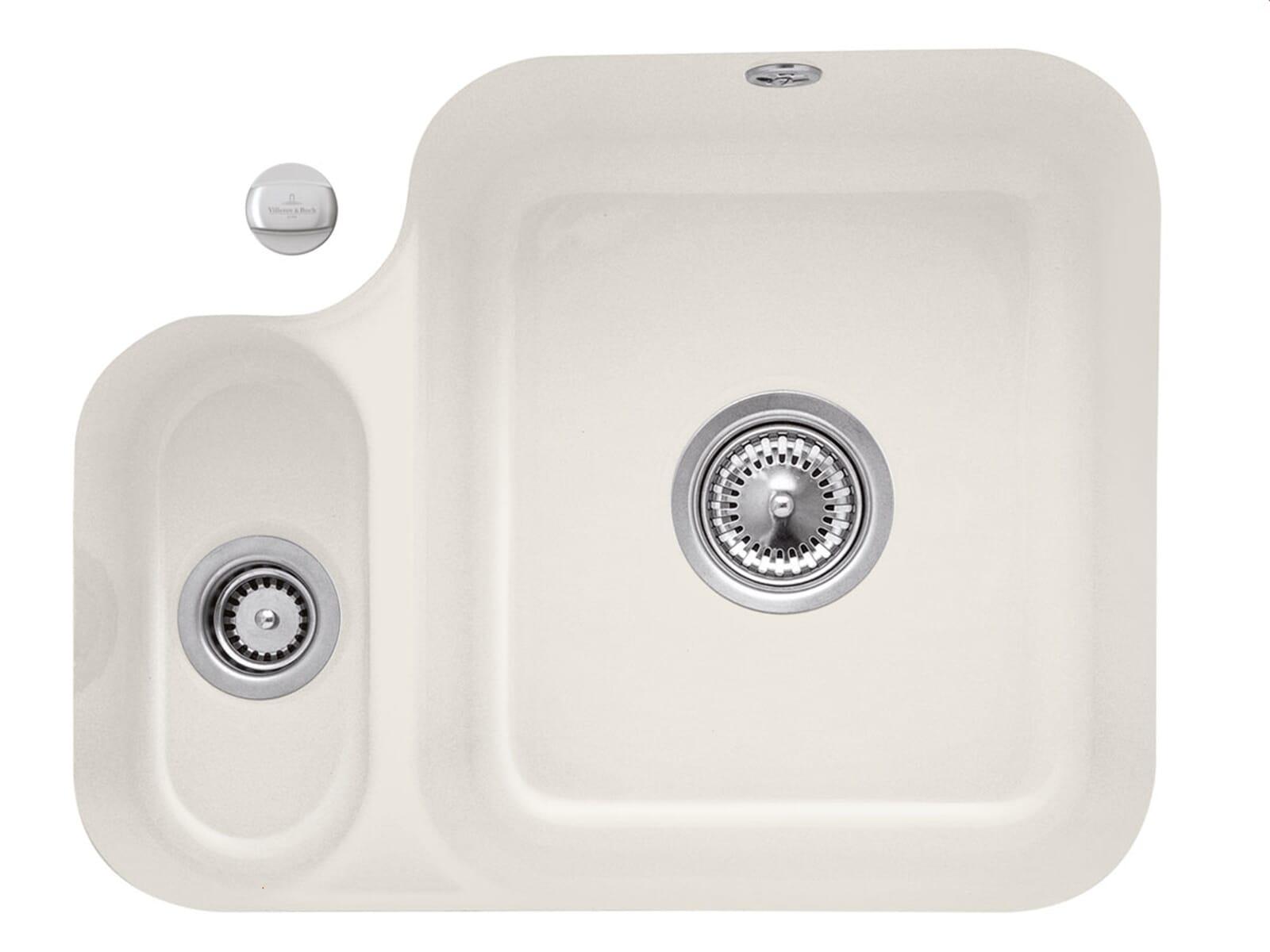 Villeroy & Boch Cisterna 60B Crema - 6702 02 KR Keramikspüle Exzenterbetätigung