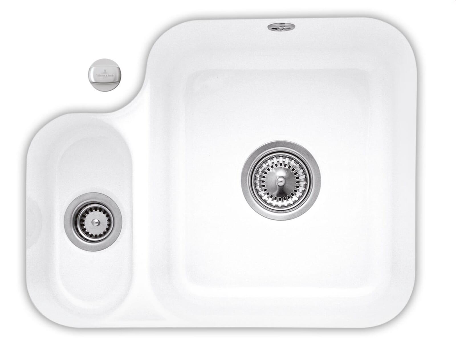 Villeroy & Boch Cisterna 60B Weiß (alpin) - 6702 02 R1 Keramikspüle Exzenterbetätigung