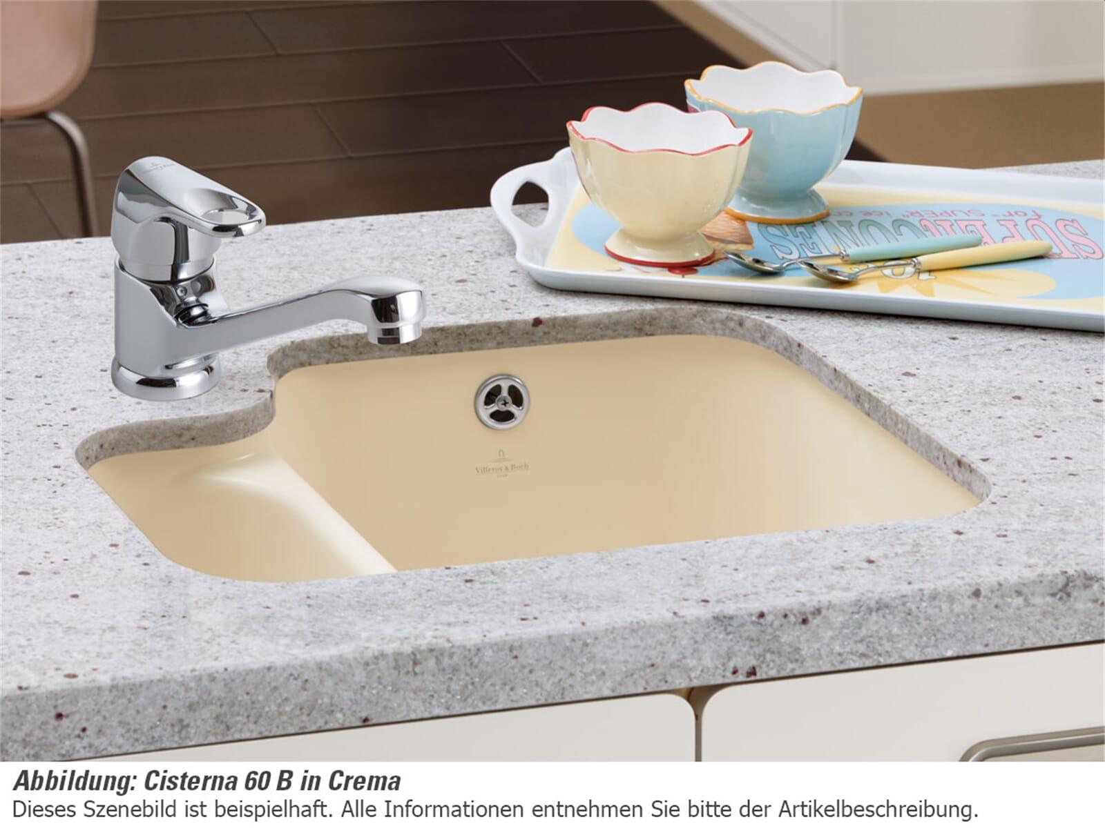 Villeroy & Boch Cisterna 60B Sand - 6702 01 i5 Keramikspüle Handbetätigung