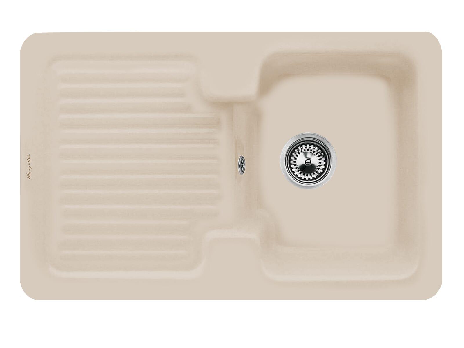 Villeroy & Boch Condor 45 Almond - 6745 01 AM Keramikspüle Handbetätigung