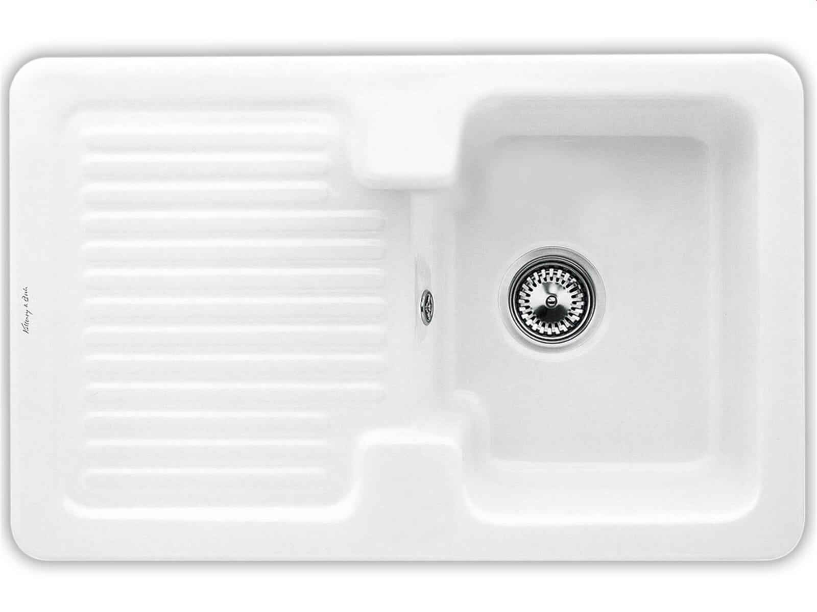 Villeroy & Boch Condor 45 Weiß (alpin) - 6745 01 R1 Keramikspüle Handbetätigung