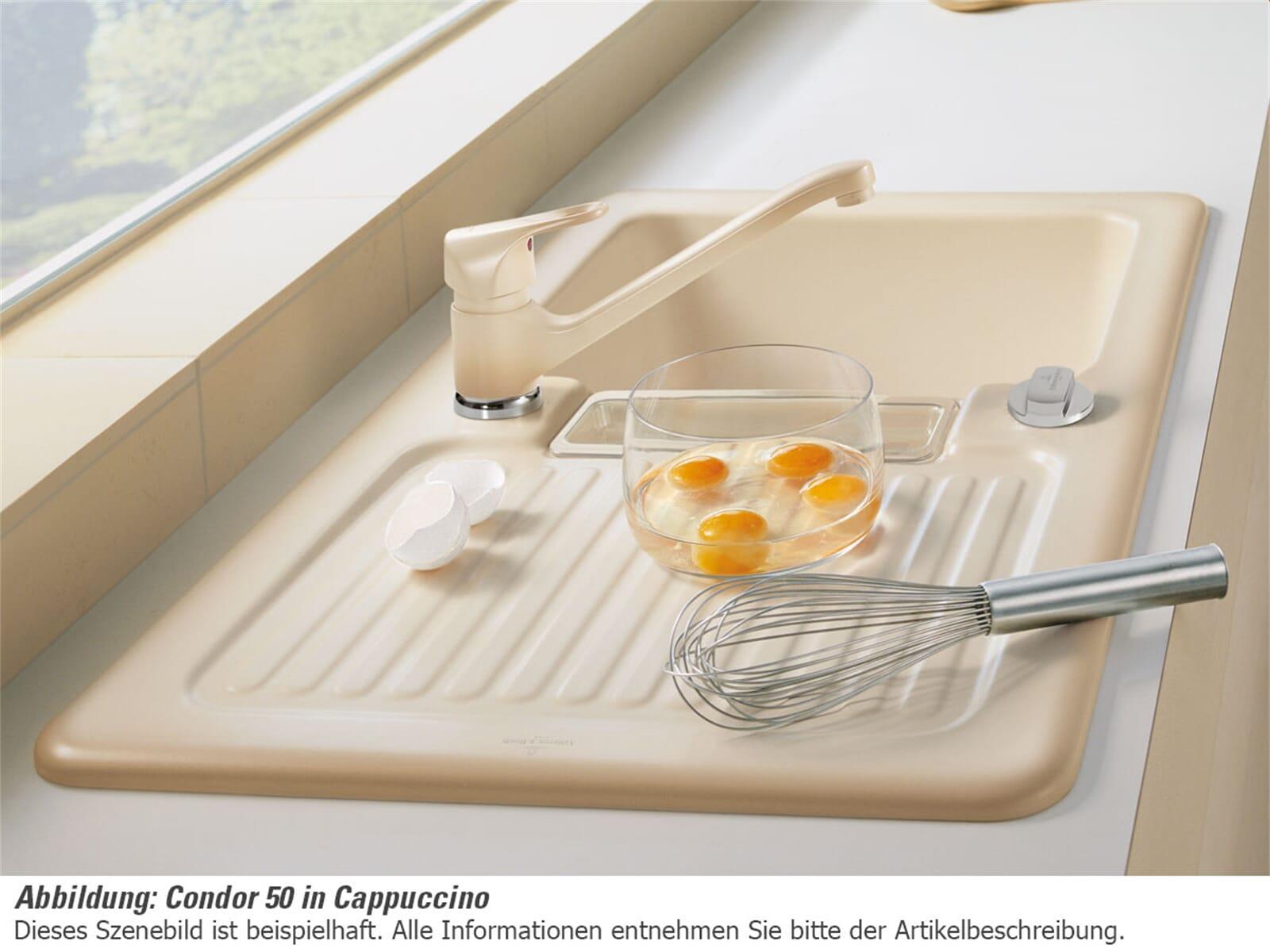 Villeroy & Boch Condor 50 Sand - 6732 02 i5 Keramikspüle Exzenterbetätigung