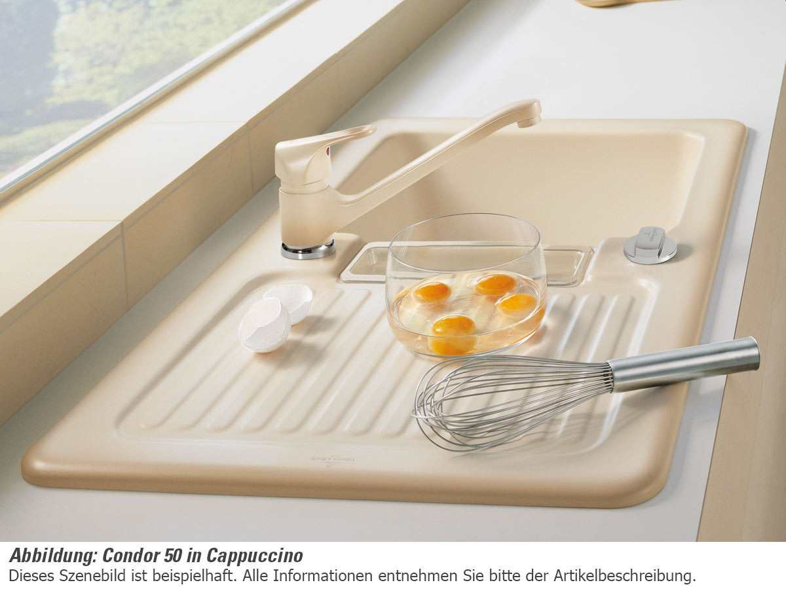 Villeroy & Boch Condor 50 Chromit - 6732 02 J0 Keramikspüle Exzenterbetätigung