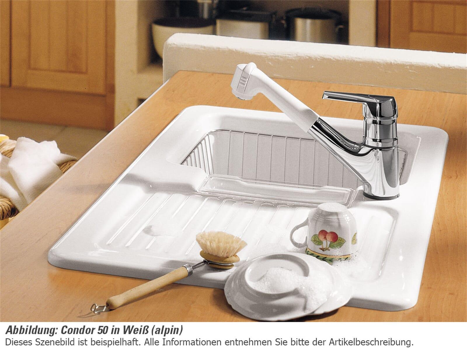 Villeroy & Boch Condor 50 Sand - 6732 02 i5 Keramikspüle ... | {Spülbecken keramik villeroy & boch 68}