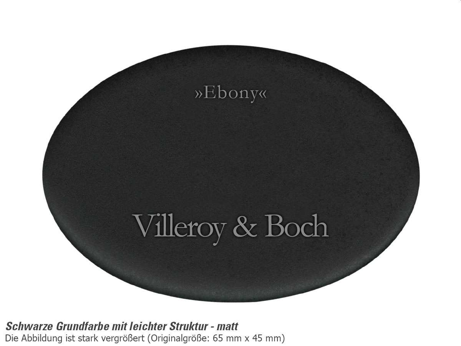 Villeroy & Boch Flavia 45 Ebony - 3306 01 S5 Keramikspüle Handbetätigung