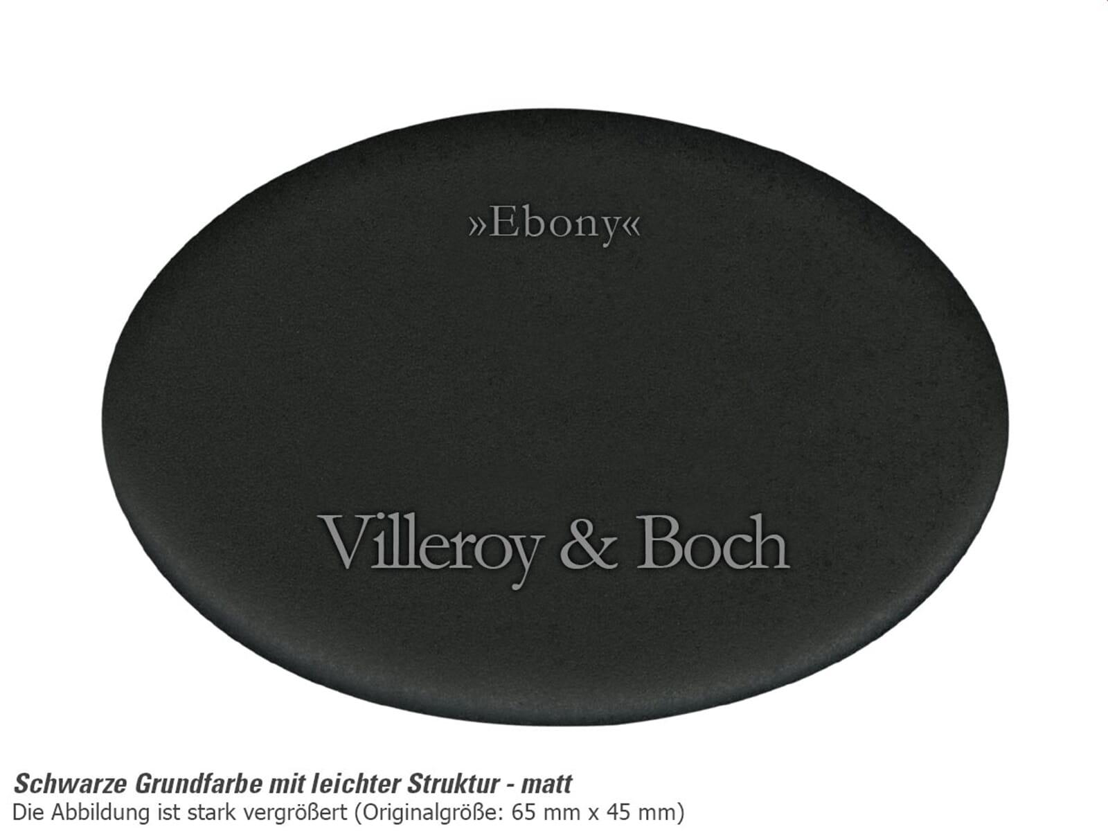 Villeroy & Boch Siluet 50 S Ebony – 3345 02 S5 Keramikspüle Exzenterbetätigung