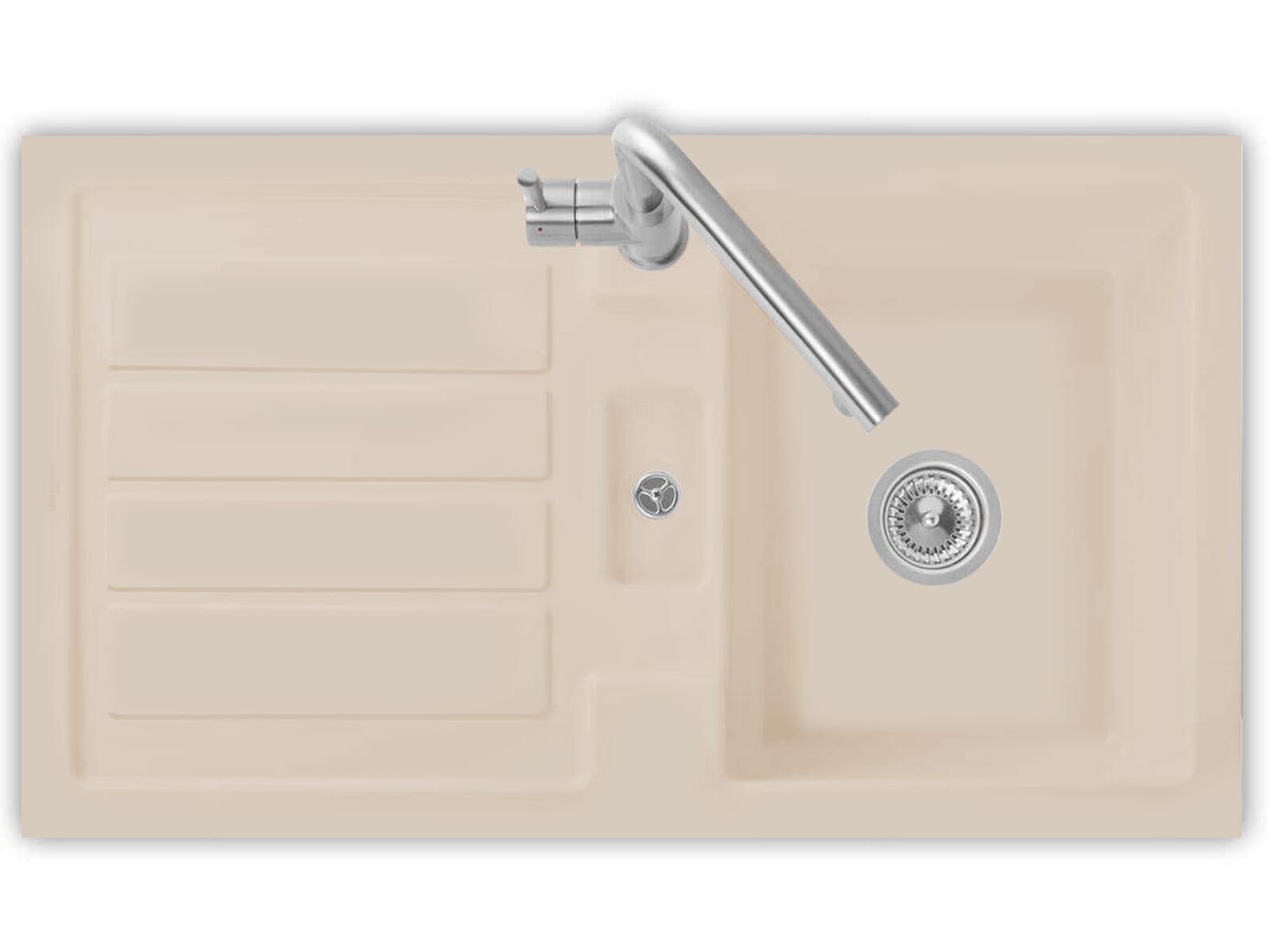 Villeroy & Boch Flavia 50 Almond - 3305 01 AM Keramikspüle Handbetätigung
