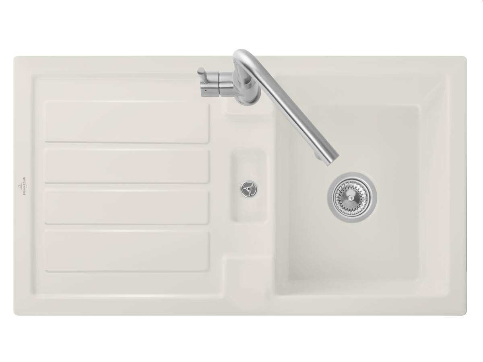 Villeroy & Boch Flavia 50 Crema - 3305 01 KR Keramikspüle Handbetätigung