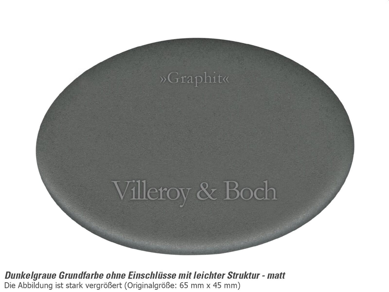 Villeroy & Boch Flavia 60 Graphit - 3304 02 i4 Keramikspüle Exzenterbetätigung