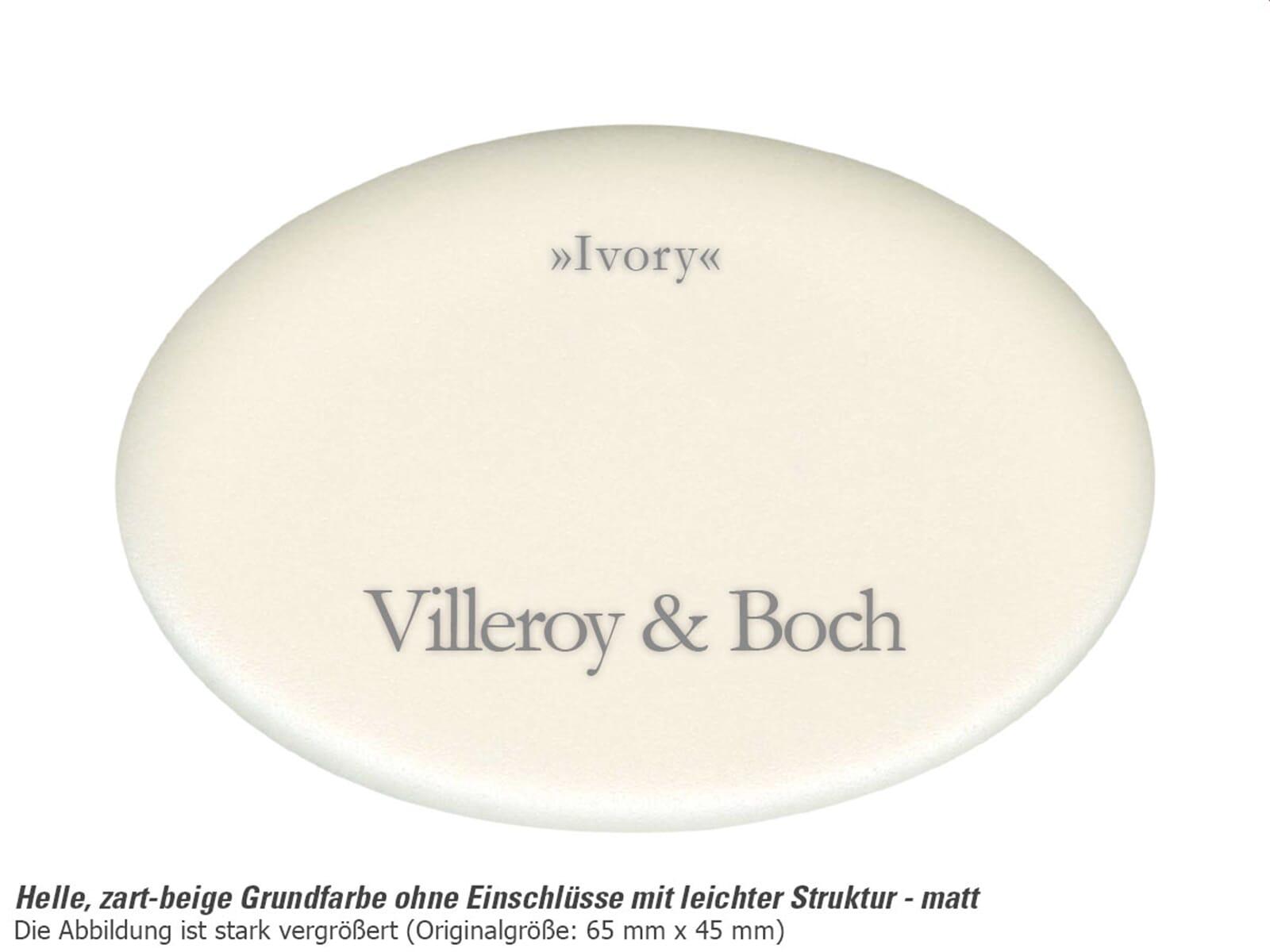 Villeroy & Boch Siluet 60 R - 3337 02 FU Ivory Keramikspüle Excenterbetätigung