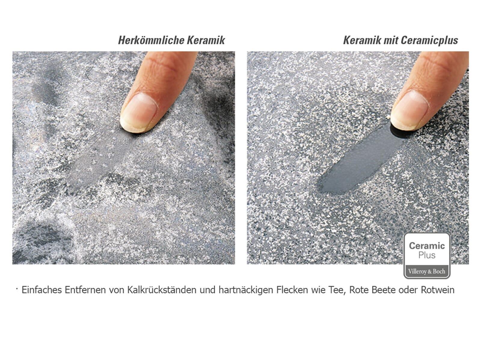 Villeroy & Boch Siluet 50 S Weiß (Alpin) – 3345 02 R1 Keramikspüle Exzenterbetätigung