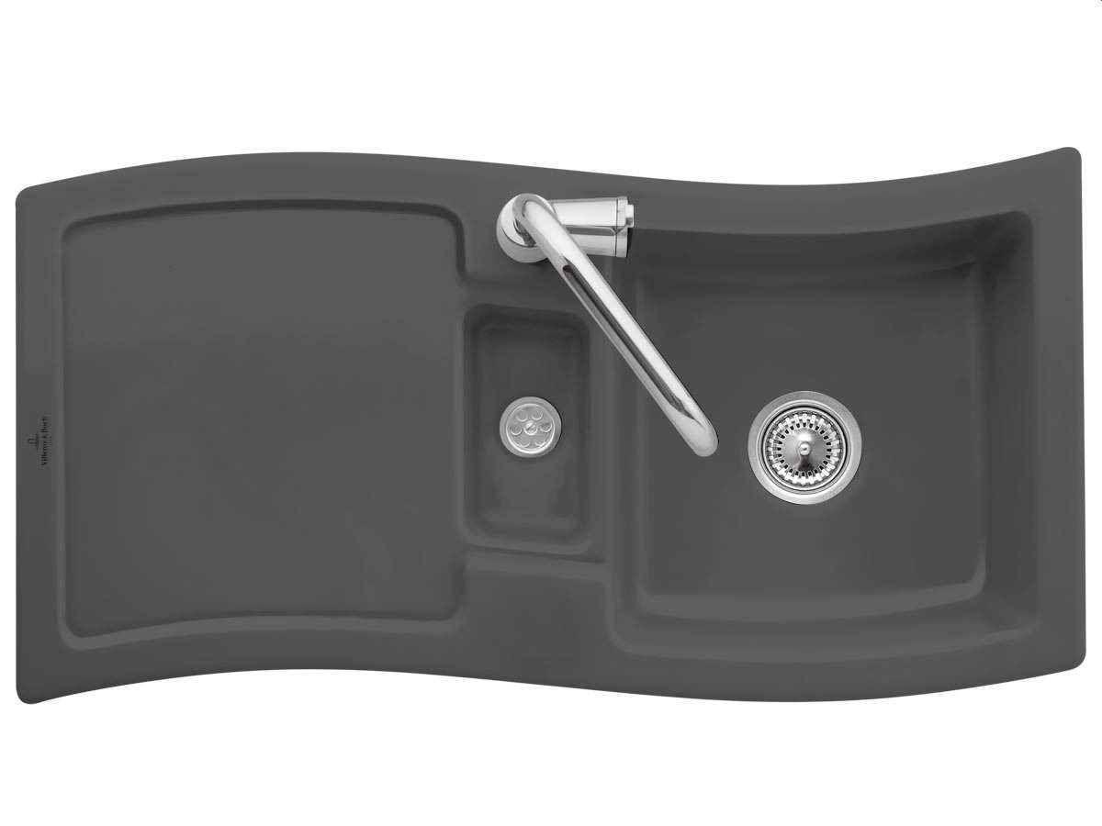 Villeroy & Boch NewWave 60 Graphit - 6716 01 i4 Keramikspüle Handbetätigung