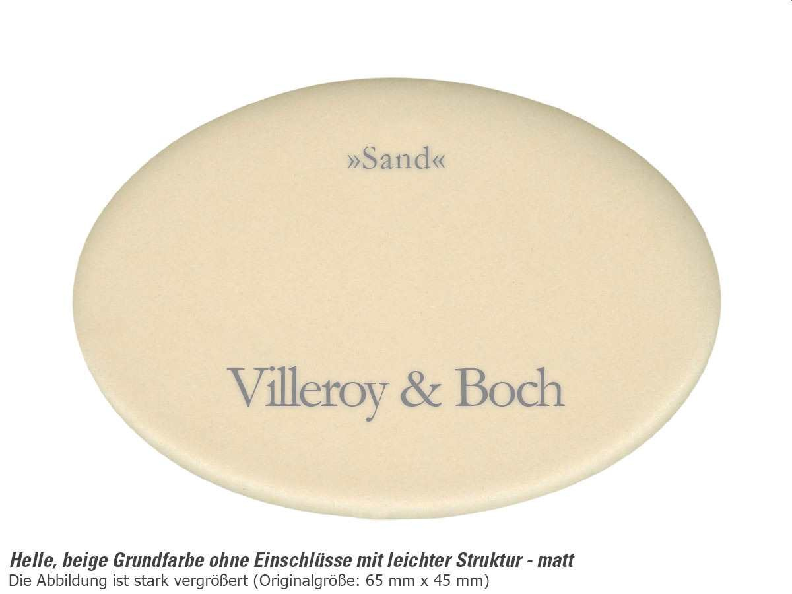Villeroy & Boch Flavia 60 Sand - 3304 02 i5 Keramikspüle Exzenterbetätigung