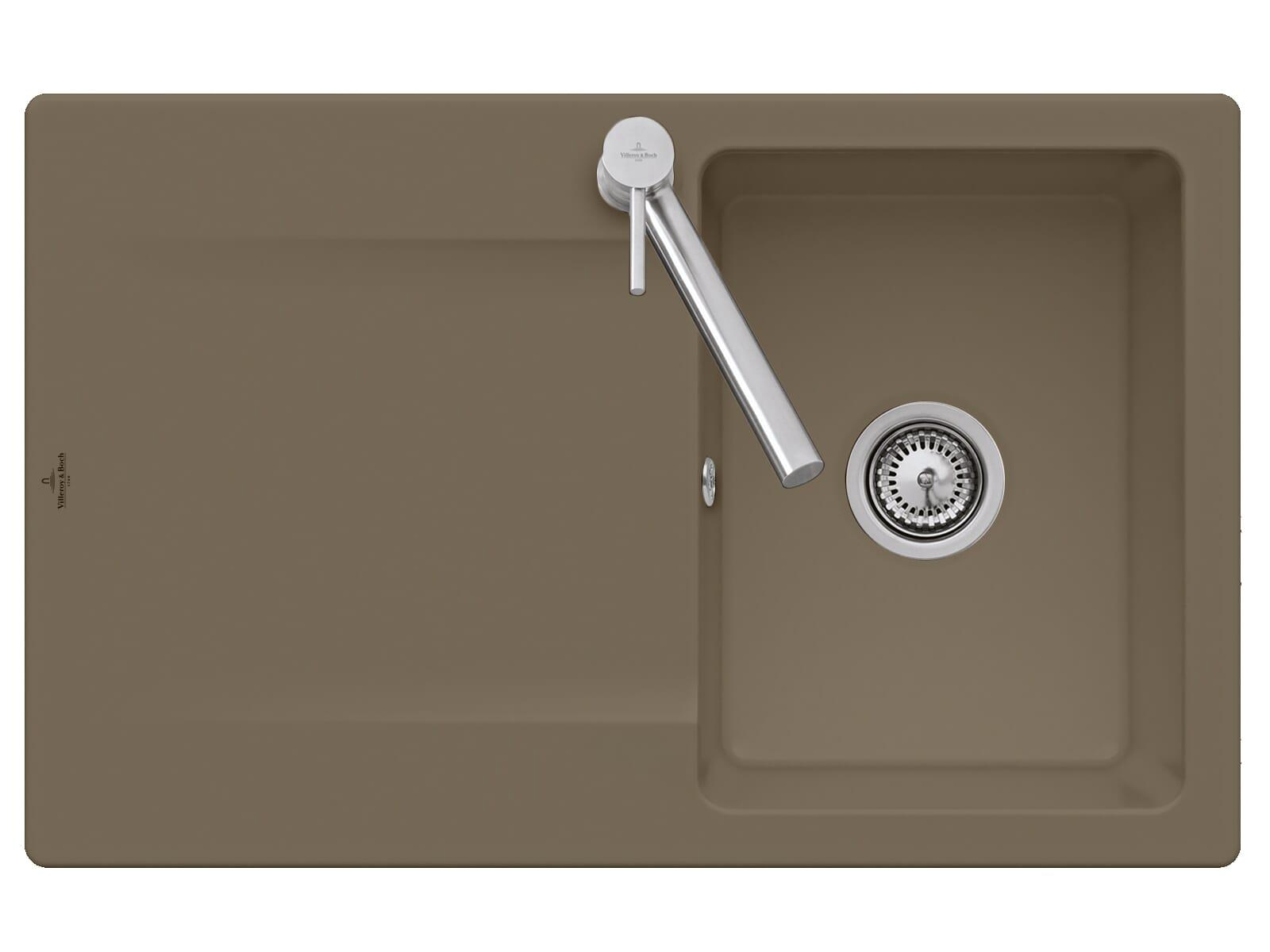 Villeroy & Boch Siluet 45 - 3334 01 TR Timber Keramikspüle Handbetätigung