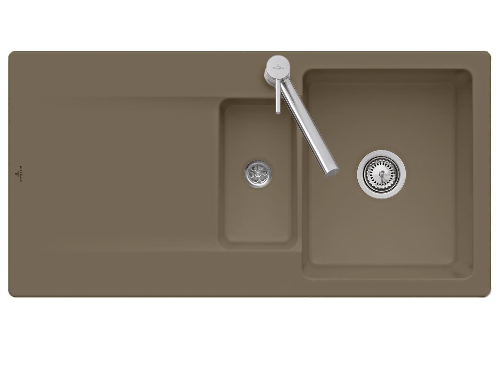 Villeroy & Boch Siluet 60 R - 3337 01 TR Timber Keramikspüle Handbetätigung