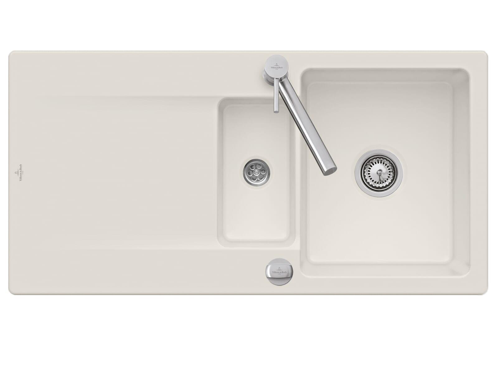 Villeroy & Boch Siluet 60 R - 3337 02 KR Crema Keramikspüle Excenterbetätigung