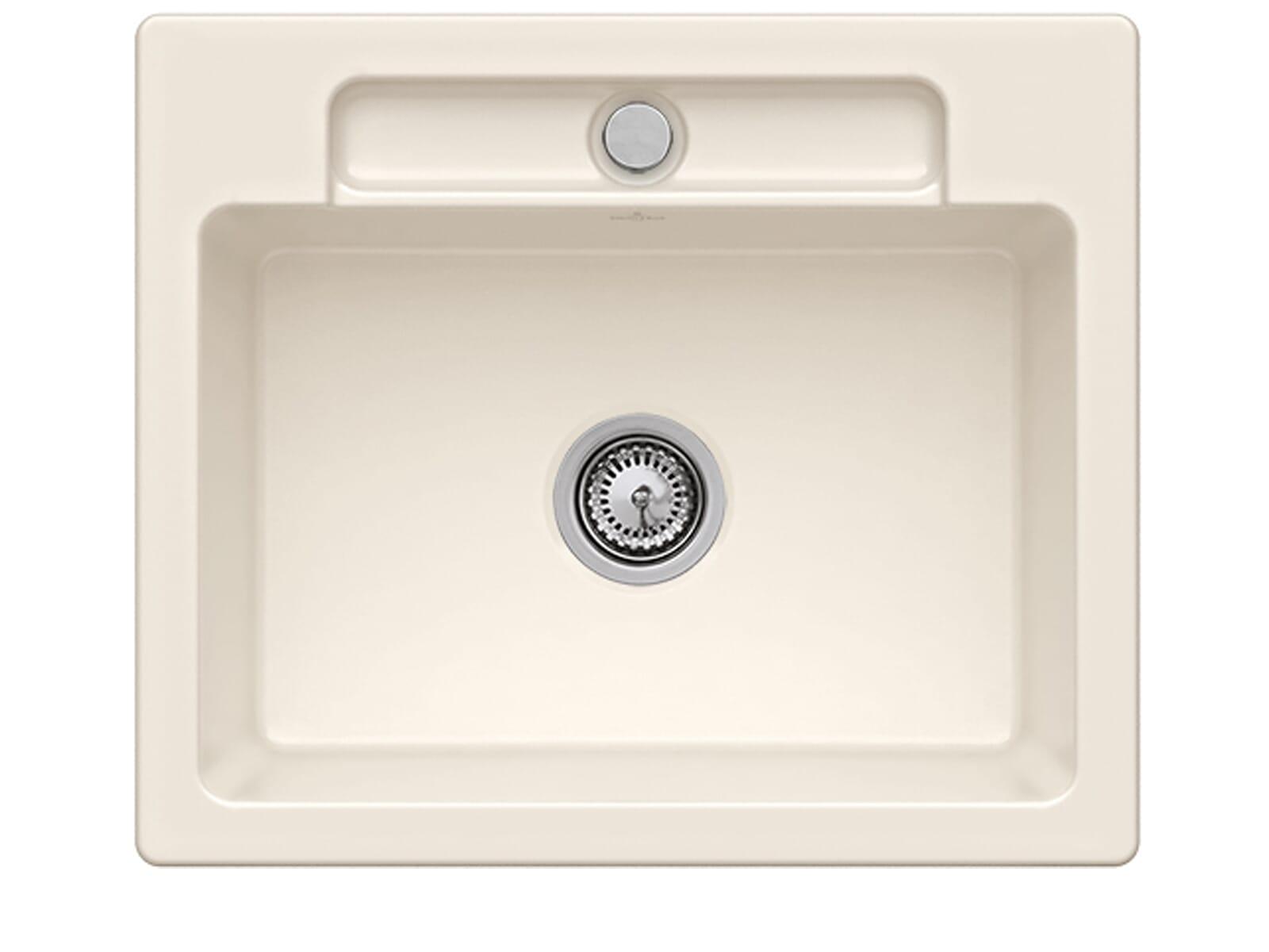 Villeroy & Boch Siluet 60 S Crema – 3346 01 KR Keramikspüle Handbetätigung