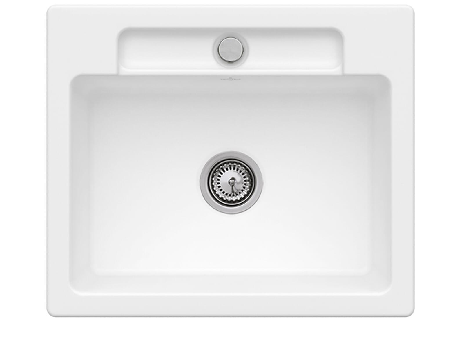 Villeroy & Boch Siluet 60 S Stone White – 3346 01 RW Keramikspüle Handbetätigung