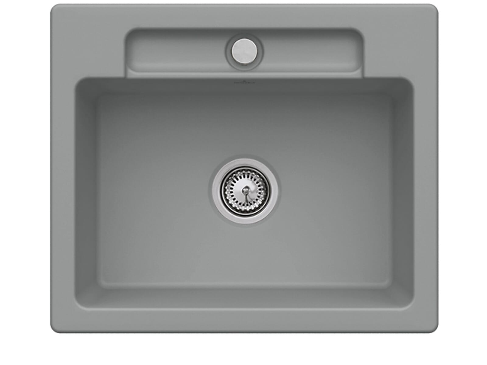 Villeroy & Boch Siluet 60 S Stone – 3346 01 SL Keramikspüle Handbetätigung