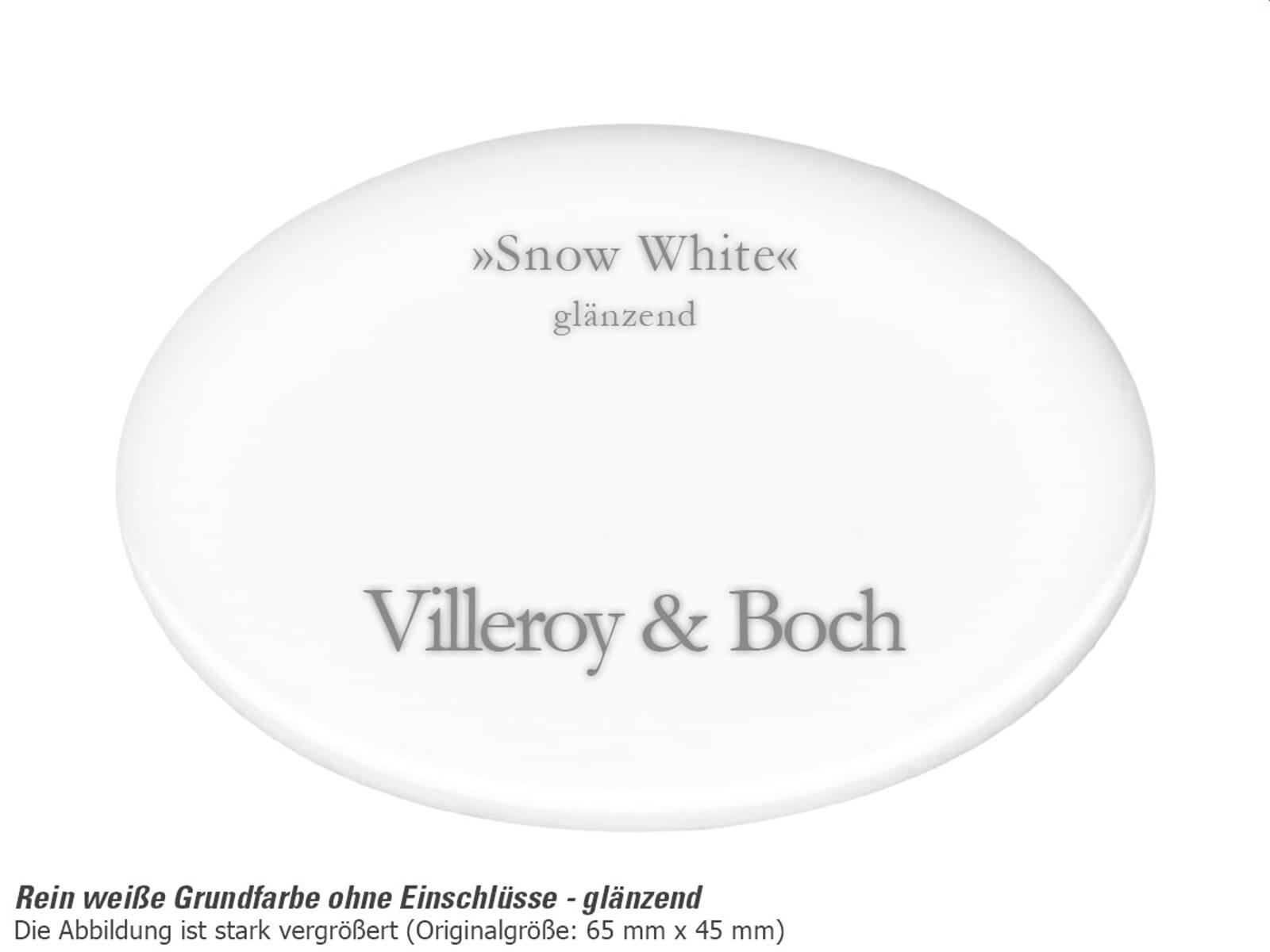 Villeroy & Boch Siluet 50 S Snow White – 3345 02 KG Keramikspüle Exzenterbetätigung