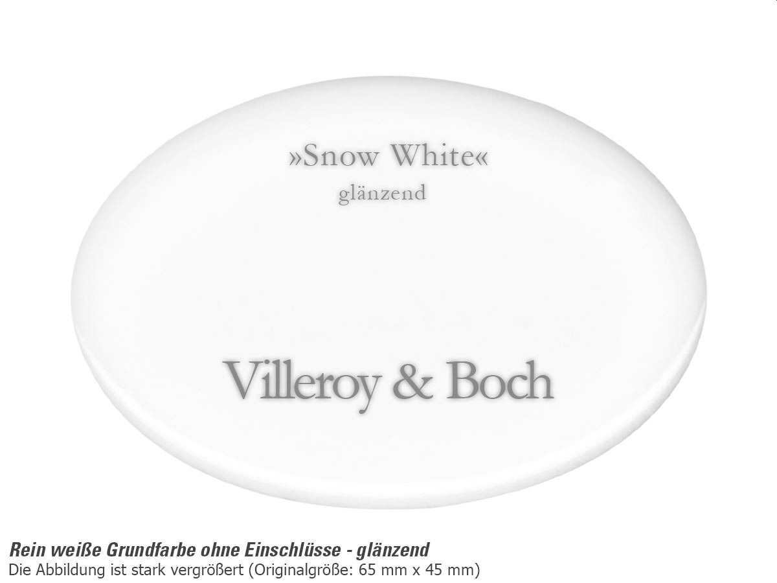 Villeroy & Boch Cisterna 60B Snow White - 6702 02 KG Keramikspüle Exzenterbetätigung