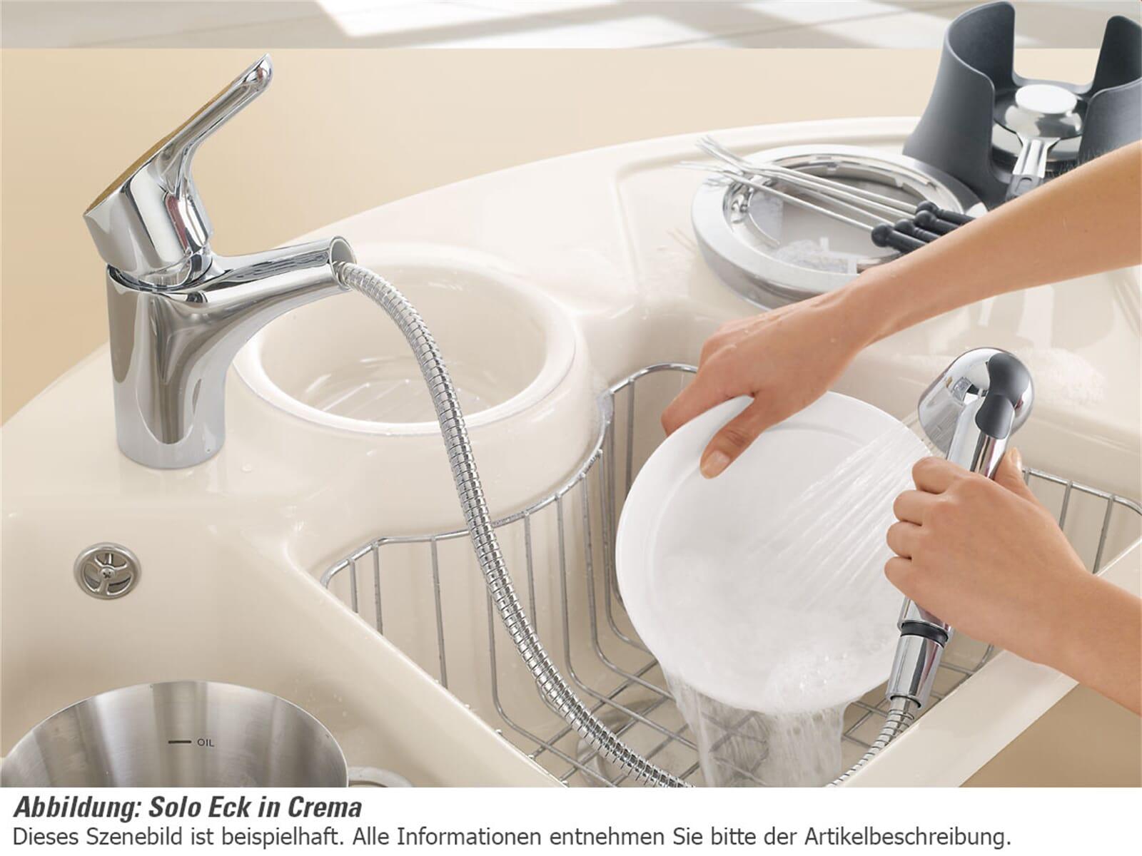 Villeroy & Boch Solo Eck Graphit - 6708 01 i4 Keramikspüle Handbetätigung
