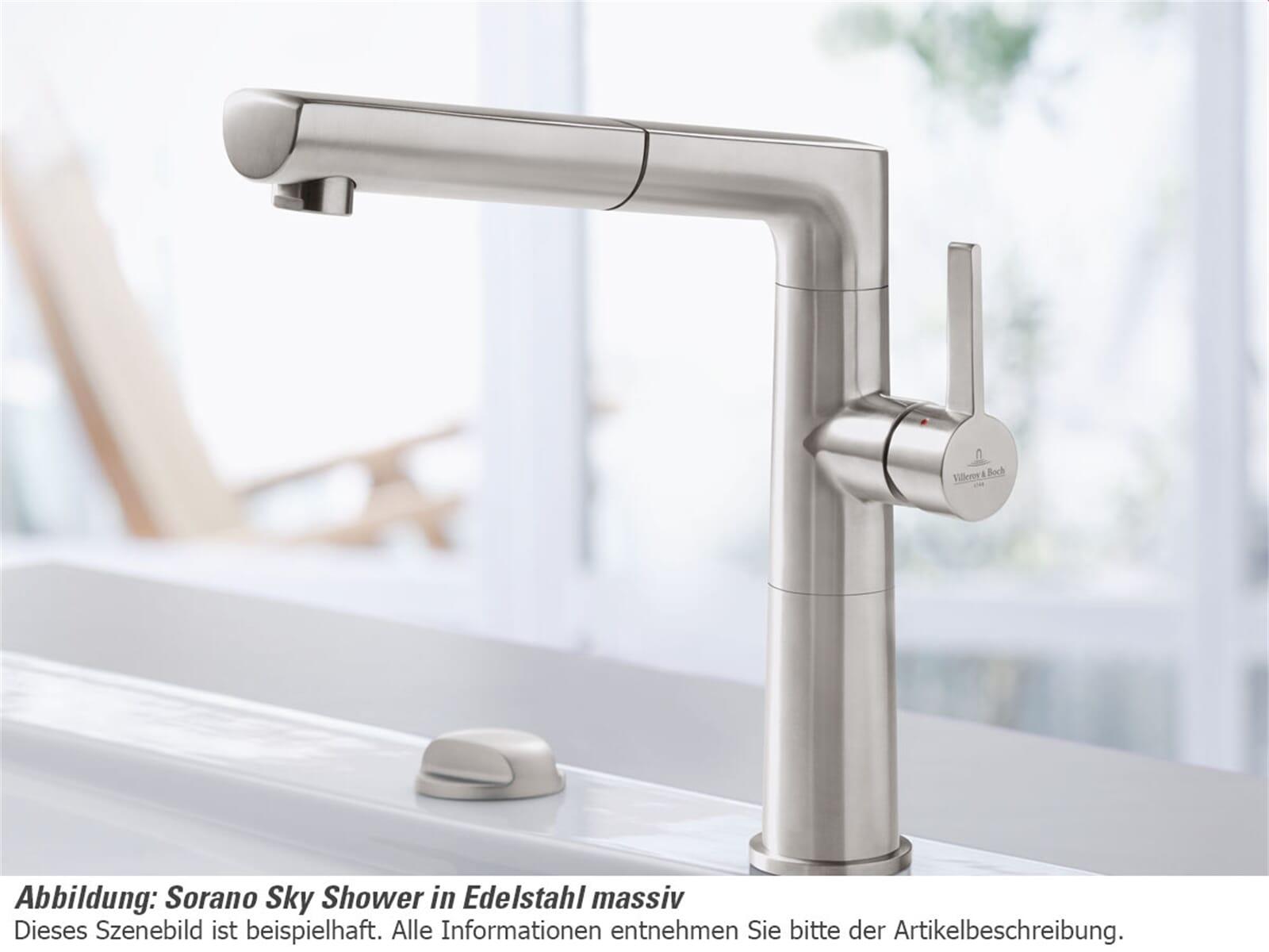 Villeroy & Boch Sorano Sky Shower Edelstahl massiv Hochdruckarmatur