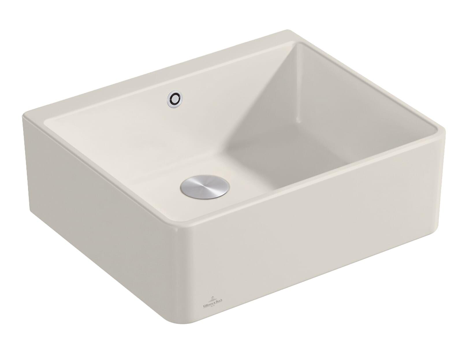 Villeroy & Boch Spülstein 60 X - 6360 02 KR Crema Keramikspüle Excenterbetätigung