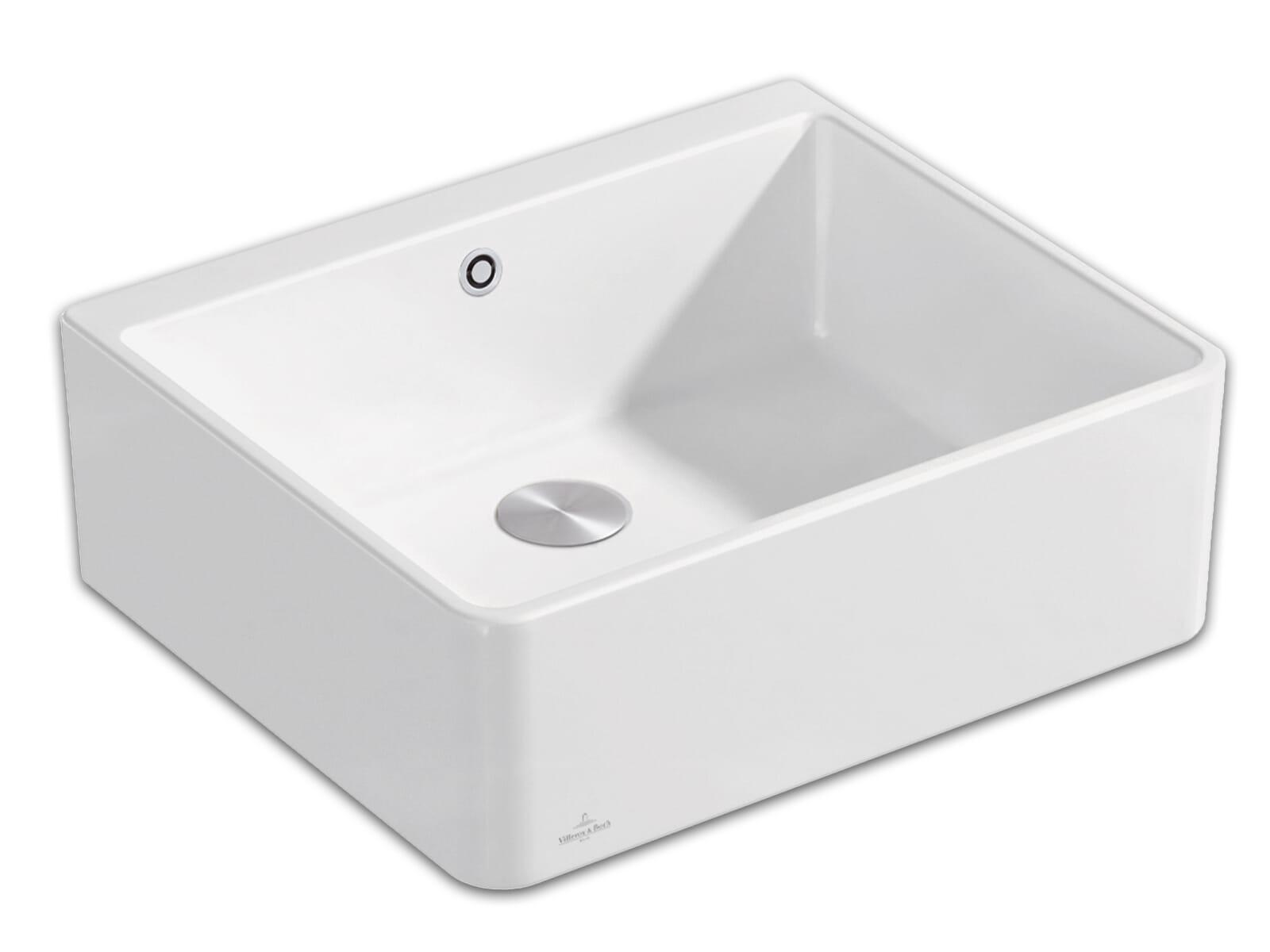 Villeroy & Boch Spülstein 60 X - 6360 02 R1 Weiß (alpin) Keramikspüle Excenterbetätigung