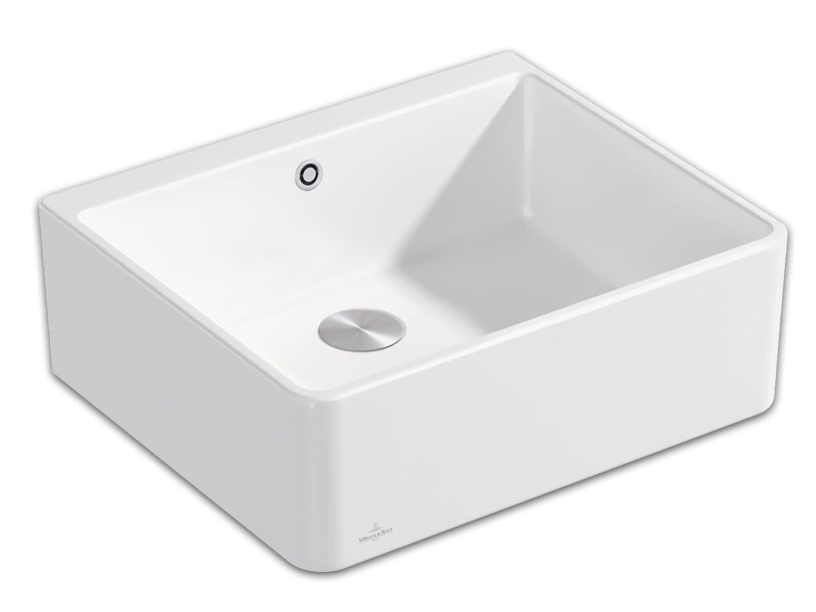 Villeroy & Boch Spülstein 60 X - 6360 02 RW Stone White Keramikspüle Excenterbetätigung