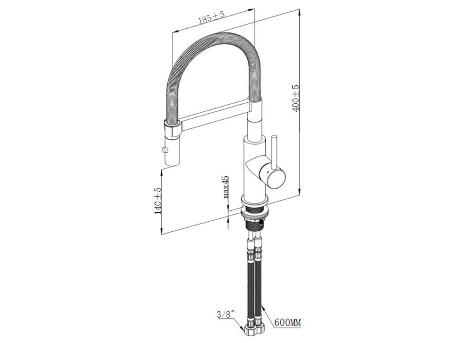 Villeroy & Boch Steel Expert Compact Edelstahl massiv  Anthrazit Hochdruckarmatur