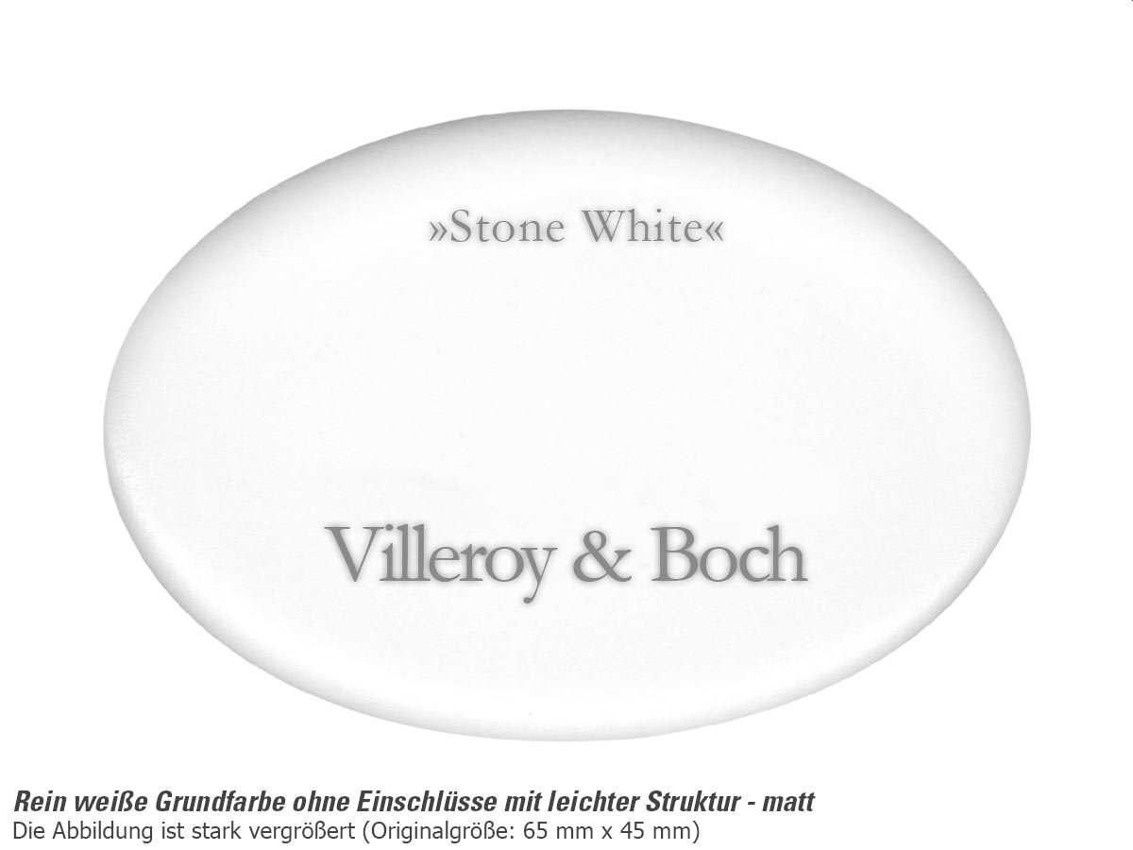 Villeroy & Boch Subway 60 XU Stone White - 6758 02 RW Keramikspüle Exzenterbetätigung