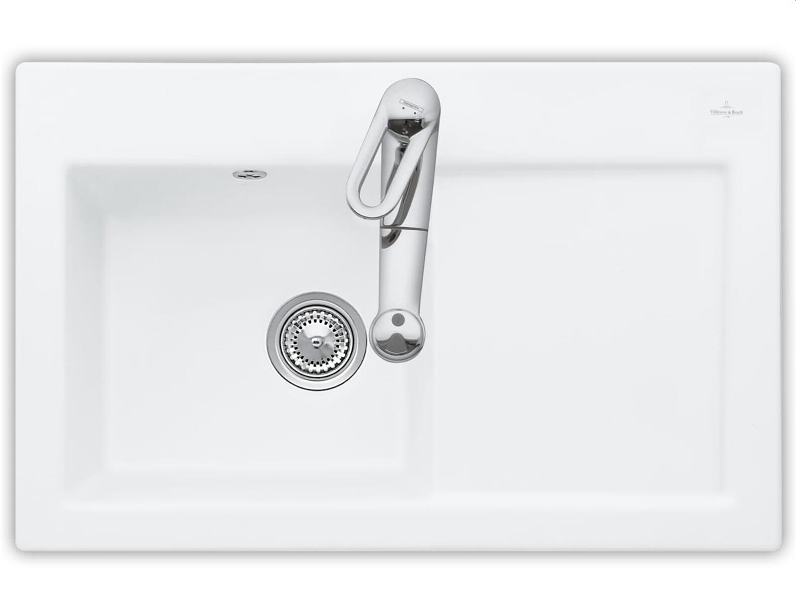 Villeroy & Boch Subway 45 Weiß (alpin) - 6772 01 R1 Keramikspüle Handbetätigung